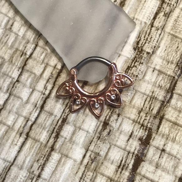a1a0719ba Jewelry | 14 Gauge 14k Gold Plated Septum Clicker | Poshmark
